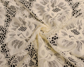 "Tan 59"" Natalie Lace Fabric by the Yard - Style 583"
