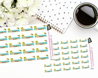 Planner Stickers | Vacation Stickers|Vacation Reminder Stickers|Cute Vacation Stickers|2 sizes to select from|Beach Stickers|CD004 CD004S