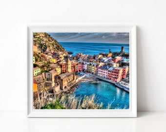 CINQUE TERRE VERNAZZA Photo Print South of Italy Photography Wall Art