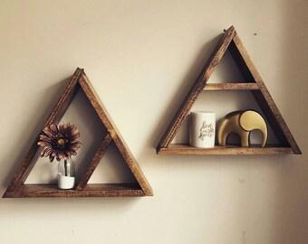 Rustic Triangle Shelf
