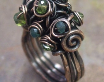 Woodland Moss Ring Tutorial, PurpleLily Designs
