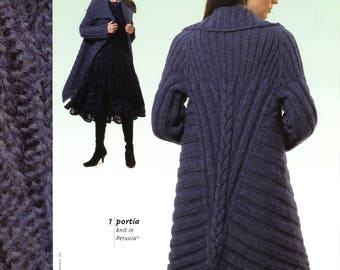 Berroco Peruvia Knitting Pattern Book #264 - 8 Designs for Women (1 by Norah Gaughan) - Coat, Jacket, Hooded Vest, Fingerless Mitts