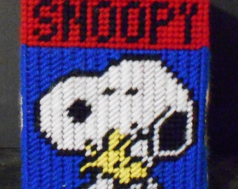 Snoopy and Woodstock Tissue Box Cover