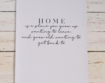 Home A4 Print