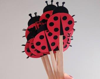 Ladybug Drink Stirrer