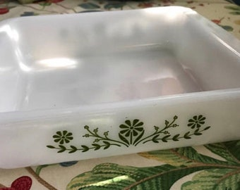 "Glasbake 8"" Bake Dish // Vintage Kitchen Decor"