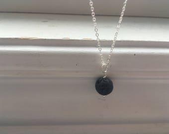 Diffuser Necklace - Lava Stone Diffuser Necklace -Lava Rock aromatherapy Diffuser necklace/Aromatherapy Necklace - essential oil necklace