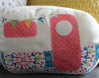 Camper Pillow, RV Décor, Vintage Camper, Happy Camper, Small Camper Cushion