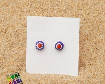 Millefiori earrings