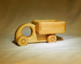 Wood truck toy Push toy Waldorf toy Eco friendly toy Organic handmade toy Wooden vehicles