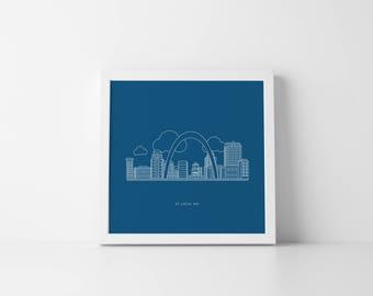 St. Louis Cityscape Print