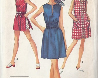 Uncut Simplicity Pattern # 8832 1970 Junior Dress or Top Shorts Jiffy Pattern