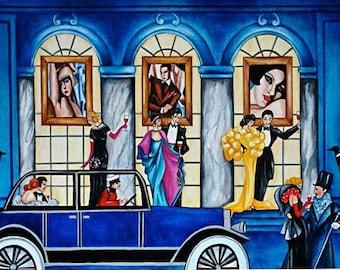 Art Print, Art Deco Print, Fine Art Print, Art Deco Artwork, Art Decor Art Print,  Art Deco Art