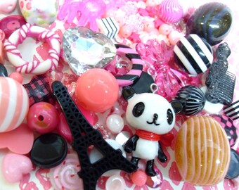 FREE UK SHIPPING 150 pcs Cute Pink and Black Destash Any destination free postage