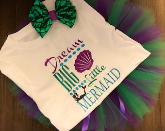 Dream big little mermaid set   Birthday   Party set   Girls clothing set   Photo prop   Mermaid set   Mermaid birthday