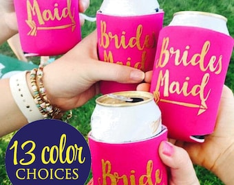 Bride Tribe Can Coolers,  Bridesmaid Proposal Can Coolers, Bridesmaid,  Bridesmaid Proposal Gift, Bachelorette Party Can Cooler, Favors