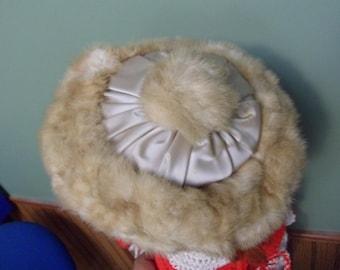 Precious Furs By Marche Mink PillBox Hat