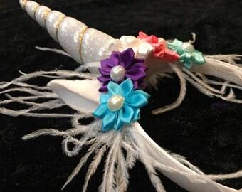 Unicorn Headband, Birthday Unicorn headband, first birthday, 1st birthday, Girls unicorn headband, multi color unicorn, pastel unicorn