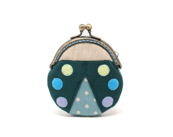 Magical ebony beetle mini coin purse