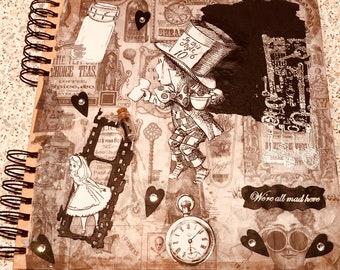 Alice inspired blank journal