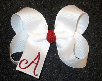 Monogram Hair Bow, Initial hair bow, Monogrammed Bows, Girls Bows, Boutique Hairbows, Big Hair Bow, Personalized Hair Bows, 5 inch Hairbows