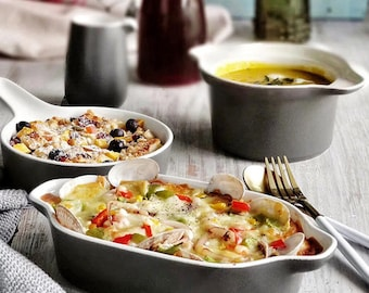 Ceramic Baking Pan/Ceramic Bakeware/Ceramic Banking Tableware/Ceramic Baking Dish / Ceramic Baking / Food Photography