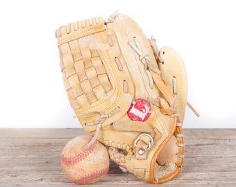 Old Vintage Leather Baseball Glove / Louisville LPS55 Baseball Glove / Antique Baseball Glove / Old Glove Antique Mitt / Baseball Decor