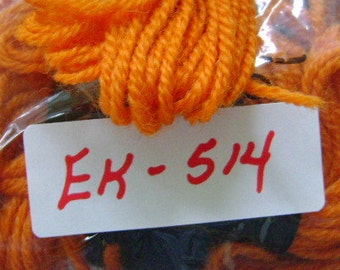 Yarn, Paragon, 100% Wool Crewel Needlepoint, Color #135 Bright Burnt Orange, 8.8