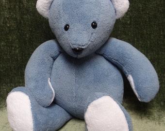 Mr Blue plush snuggle bear