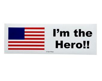 Hetalia Anime Bumper Sticker - America (I'm the Hero)