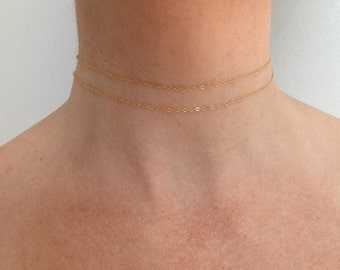 14k, gold necklace set, gold chain, necklace chokers, simple necklace, delicate gold, solid gold chain, layering necklaces, 14k gold