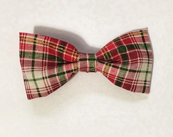 Christmas plaid bow