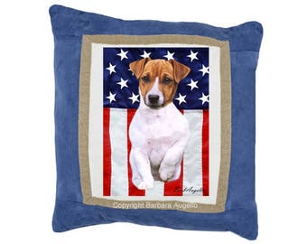 Jack Russell Terrier Pillow, Jack Russell Terrier Gift, Jack Russell Throw Pillow, Jack Russell Art