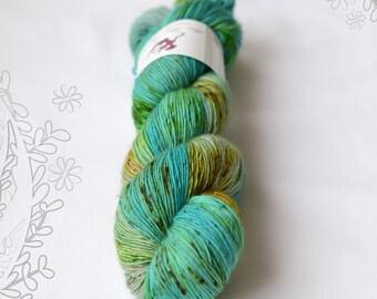 MERINO SLIGHT - Mermaid Bay - hand dyed yarn, 100% superwash extra fine merino, singles