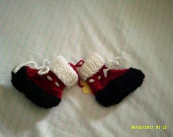 Baby Booties, Santa Booties