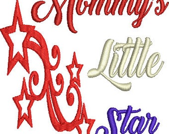 Mommy's Little Star Machine Embroidery Design