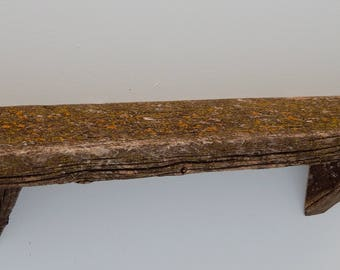 Lichen Barnwood Wall Shelf