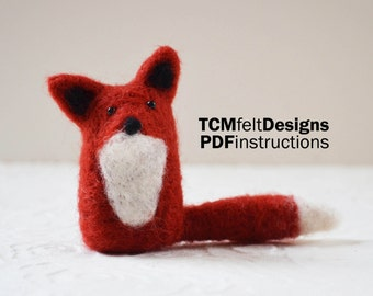 PDF Needle Felting Fox instructions, wool DIY fiber instructions for beginners