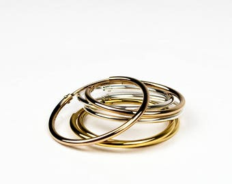 MAGDA - hoop earrings 12 mm sterling silver, gold plated rose gold or 585 yellow gold