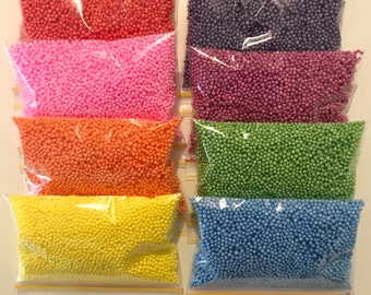 Small Foam Beads for Slime