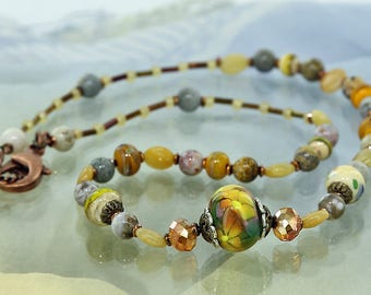 Desert Garden Lampwork Bead Necklace