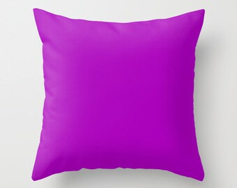 Heliotrope Magenta Pillow, #AA00BB, Solid Magenta Throw Pillow, Solid Purple Pillow, Modern Pillow, Minimalist Decor, Minimalist Pillow