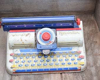 Marx Typewriter, Junior Typewriter, Kids Typewriter, Vintage Typewriter, Typewriter Display, Writer Decor, Reporter Decor
