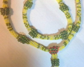 Kankakee Beadwoven Necklace