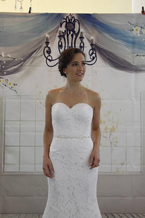 Klassische einfache Liebste Meerjungfrau weißen Brautkleid