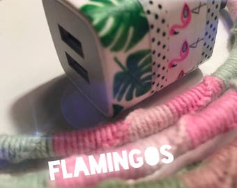 Flamingo Micro USB Lightening Phone Charger | Dual USB Wall Port