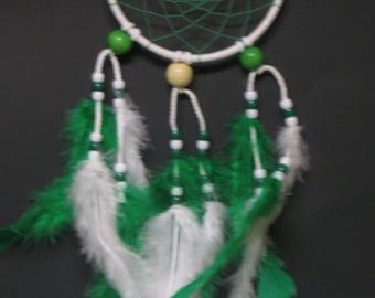 Dream Catcher-White and Green