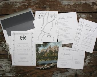 Mountain and Nature Wedding Invitation (Callie Suite) - Deposit