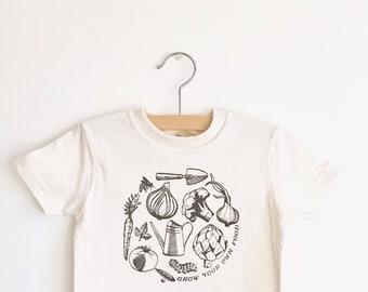 Grow Your Own Food Organic Cotton Kids Tee Shirt