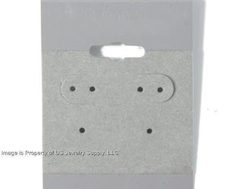 """100 Grey Hanging Earring Cards 2""""H x 1 1/2""""W Jewelry Display"""